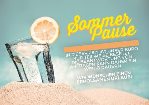 sommerpause neutral